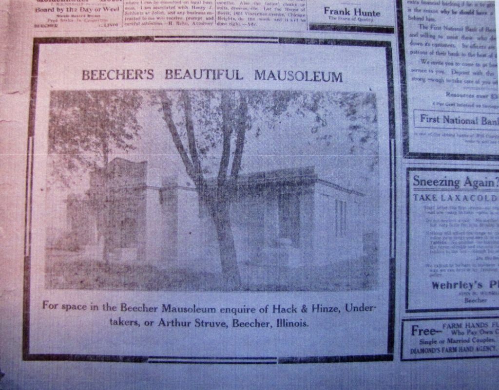 01-16-1916 Beecher's Beautiful Mausoleum