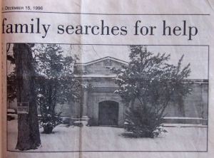 Area crypt in disrepair; family searches for help 12-15-1996 The Star