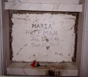 18.Maria Hoffman's Missing Headstone