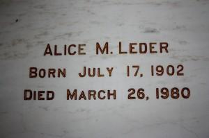 Alice M. Leger