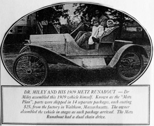 Alice, Bernice & Dr. Miley, Mertz Runabout 1909
