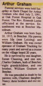 Art Graham Obit 1991