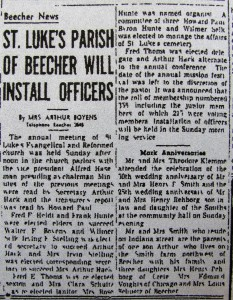 Arthur Hack St.Luke officer 1-28-1948