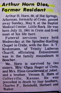 Arthur Horn Dies