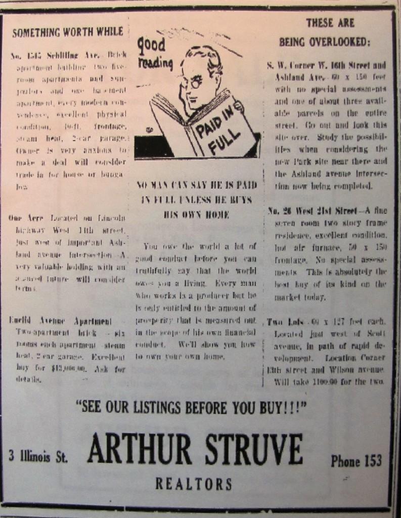 Arthur Struve ad
