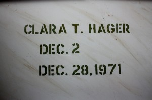 CLARA E. HAGER