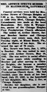 Caroline Struve obit - Beecher Herald