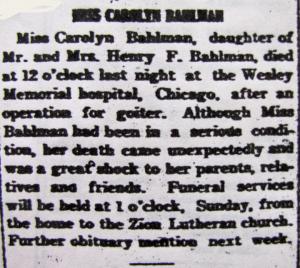 Carolyn Bahlman 03-26-1924