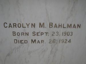 Carolyn M Bahlman