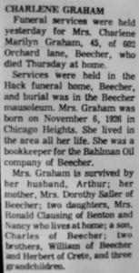 Charlene Graham obit
