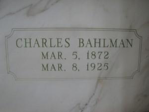 CHARLES BAHLMAN