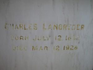 CHARLES LANDGREDER