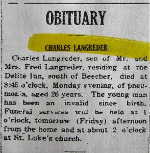 Charles Langreder obit 1