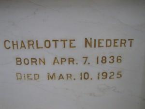 CHARLOTTE NIEDERT