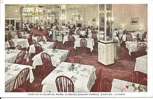 Colonial Room Chicago 1950