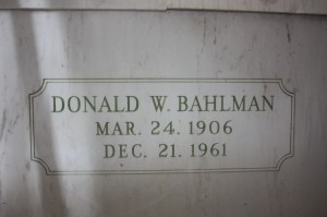 Donald W. Bahlman