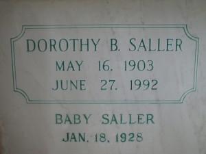 DOROTHY B. SALLER AND BABY SALLER