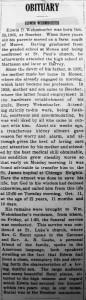 Edwin Wehmhoefer obit -Beecher Herald