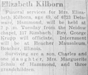 Elizabeth Kilborn obit