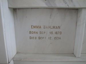 EMMA BAHLMAN
