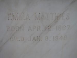 EMMA MATTHIES