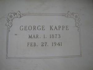 GEORGE KAPPE