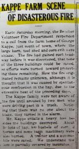 George Kappe - Fire 7-1930