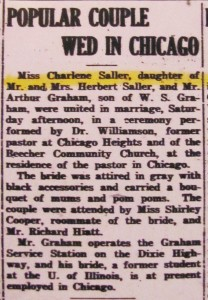 Graham-Saller Wed 1945