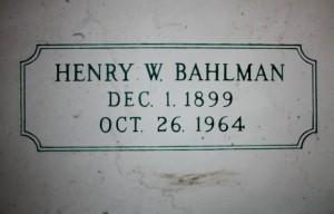 Henry W. Bahlman