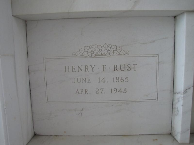 HENRY F. RUST