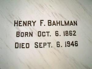 Henry F. Bahlman