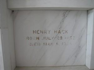 HENRY HACK