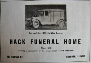 Henry Hack Funeral home ad