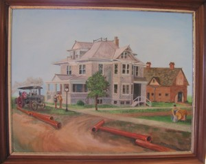 Dr. Miley's House @ 1909 , Painting at the Beecher Historical Society museum. Artist: Norma ?