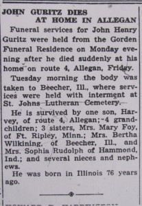 John Guritz Dies at Home