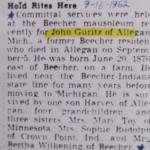 John Guritz Hold Rites Here