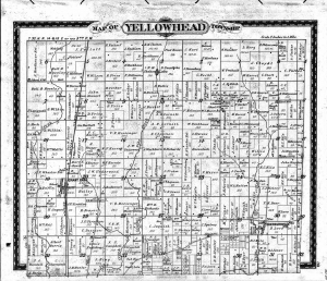 Joseph Cloidt 1883 map of Yellowhead township