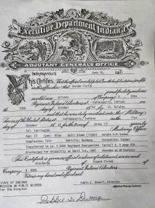 Joseph Cloidt Civil War Discharge 10-3-1862