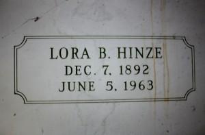 Lora B Hinze