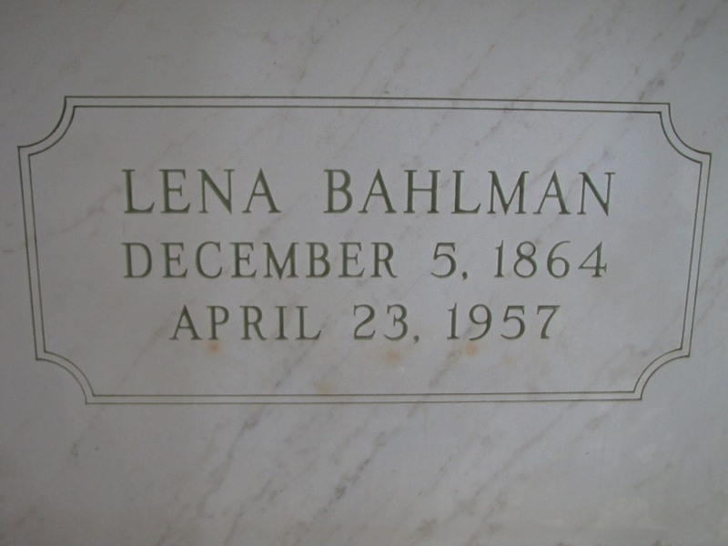 LENA BAHLMAN