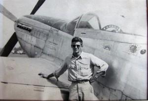 Loren Thielman w P51 Army Mustang