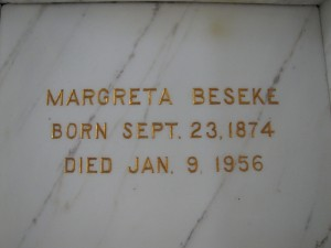 MARGRETA BESEKE