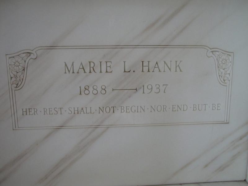 MARIE L HANK