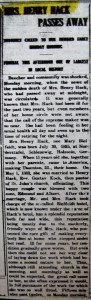 Mary Hack obit 1