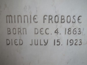 MINNIE FROBOSE