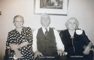 Minnie, Henry F and Lena Bahlman copy