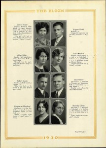 Olive Miley year book 1930
