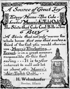 Wehmhoefer Hardware store ad