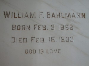 WILLIAM F. BAHLMAN
