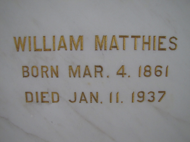 WILLIAM MATTHIES